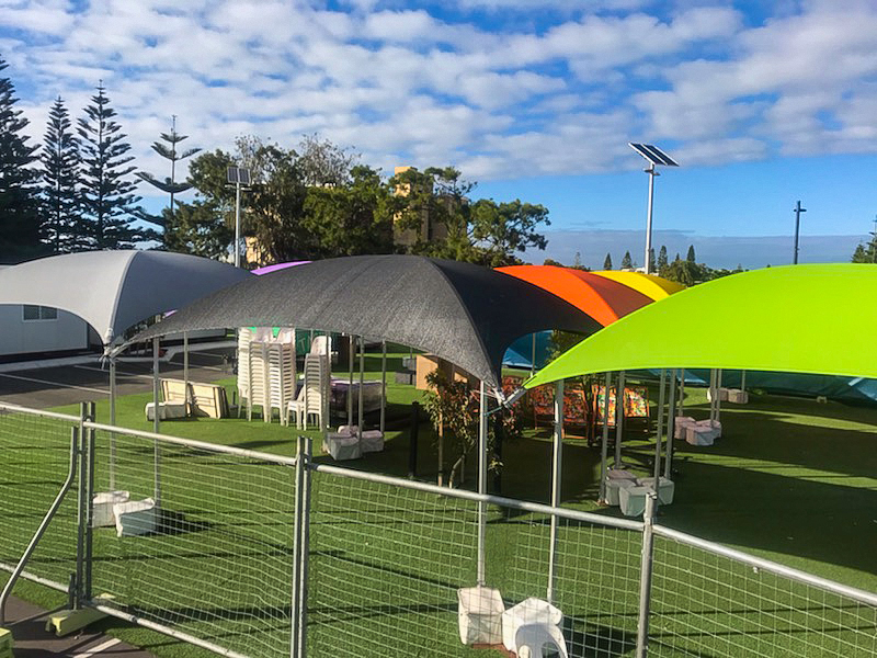 6x6m Shade Domes Gn-Bk-Gy