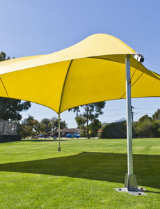 8x8m Yellow Shade Dome