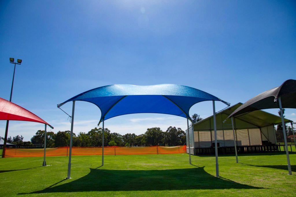 6x6m Shade Dome Blue